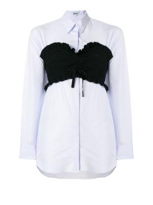 Kenzo: shirts - Sensual bustier straight line shirt