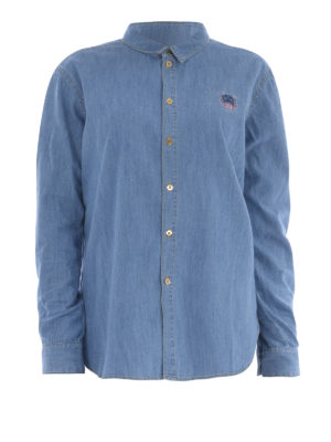 Kenzo: shirts - Stone washed denim shirt