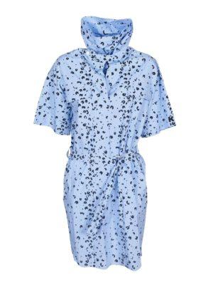 KENZO: short dresses - Belt dress in light blue