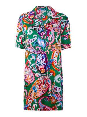 KENZO: abiti corti - Abito in seta paisley colorato