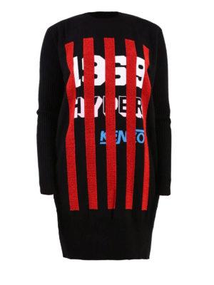 Kenzo: short dresses - Hyper KENZO cotton sweater dress