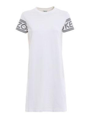KENZO: abiti corti - Abito T-shirt con logo sportivo Kenzo