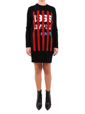 Kenzo: short dresses online - Hyper KENZO cotton sweater dress
