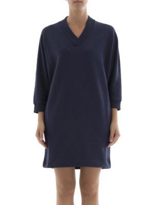 Kenzo: short dresses online - Kenzo Logo sweatshirt dress