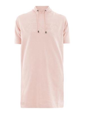 KENZO: abiti corti - Abito stile felpa rosa con logo