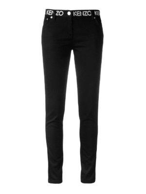 Kenzo: skinny jeans - Logo detailed skinny jeans