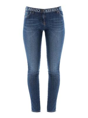 KENZO: jeans skinny - Jeans skinny con stampa logo
