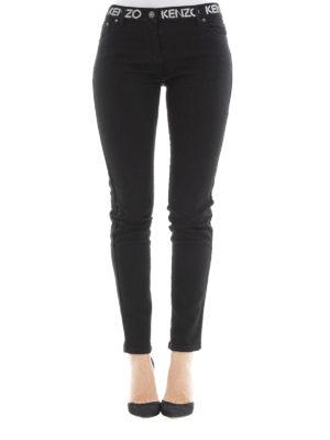 Kenzo: skinny jeans online - Logo detailed skinny jeans