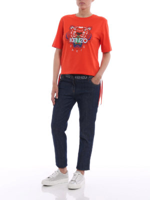 Kenzo: skinny jeans online - Logo print skinny jeans