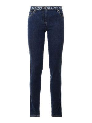 Kenzo: skinny jeans - Printed logo detail jeans
