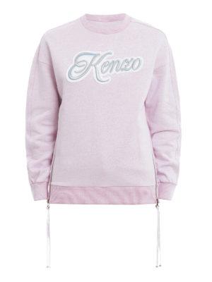 Kenzo: Sweatshirts & Sweaters - Embroidered logo zipped sweatshirt