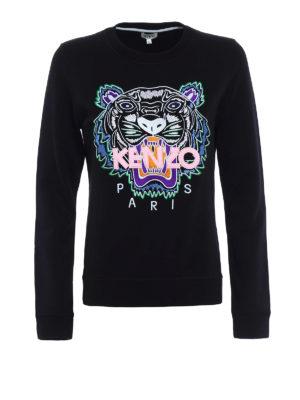 Kenzo: Sweatshirts & Sweaters - Embroidered Tiger black sweatshirt