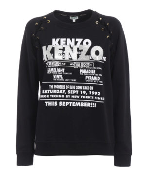 Kenzo: Sweatshirts & Sweaters - Glitter lace-up sweatshirt