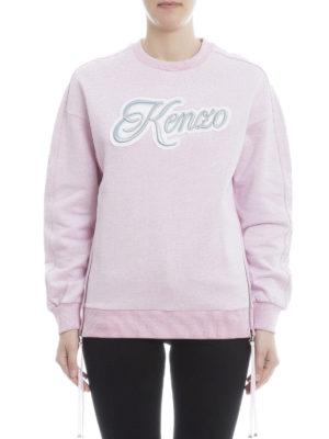 Kenzo: Sweatshirts & Sweaters online - Embroidered logo zipped sweatshirt