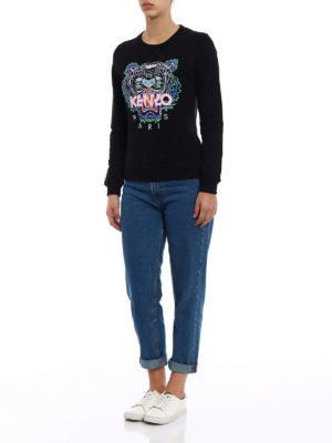 Kenzo: Sweatshirts & Sweaters online - Embroidered Tiger black sweatshirt