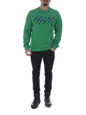 Kenzo: Sweatshirts & Sweaters online - Kenzo green sweatshirt