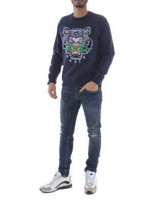 Kenzo: Sweatshirts & Sweaters online - Tiger blue sweatshirt