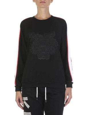 Kenzo: Sweatshirts & Sweaters online - Tiger crepe satin sweatshirt