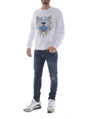 Kenzo: Sweatshirts & Sweaters online - Tiger white sweatshirt