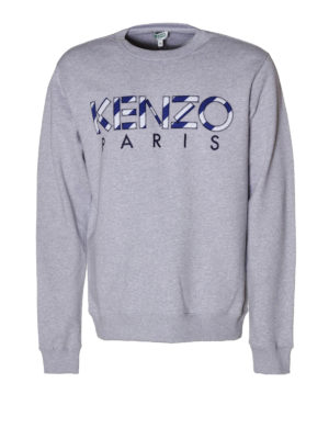 Kenzo: Sweatshirts & Sweaters - Paris embroidered logo sweatshirt