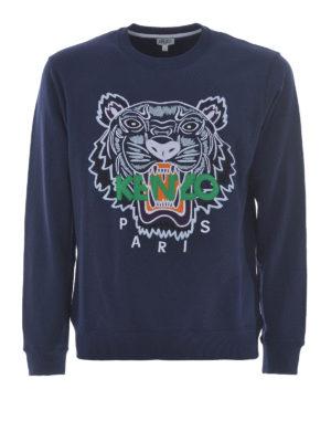 Kenzo: Sweatshirts & Sweaters - Tiger blue sweatshirt