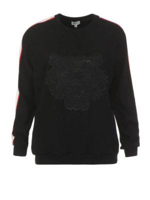 Kenzo: Sweatshirts & Sweaters - Tiger crepe satin sweatshirt