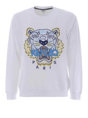 Kenzo: Sweatshirts & Sweaters - Tiger white sweatshirt