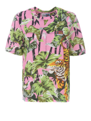 KENZO: t-shirt - T-shirt Bamboo Tiger