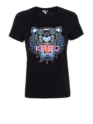 Kenzo: t-shirts - Basic Tiger black Tee