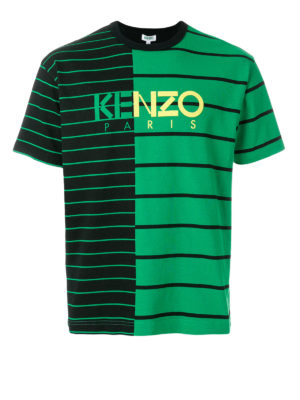 KENZO: t-shirt - T-shirt a righe color block