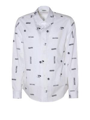 Kenzo: t-shirts - Logo print cotton shirt