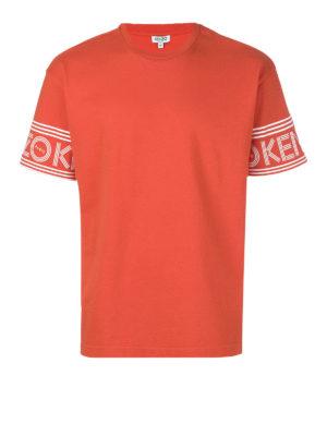 Kenzo: t-shirts - Logo sleeves cotton T-shirt