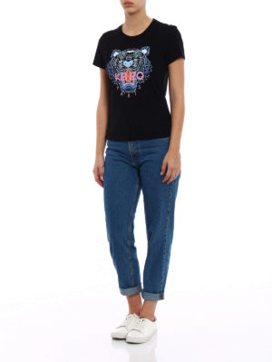 Kenzo: t-shirts online - Basic Tiger black Tee