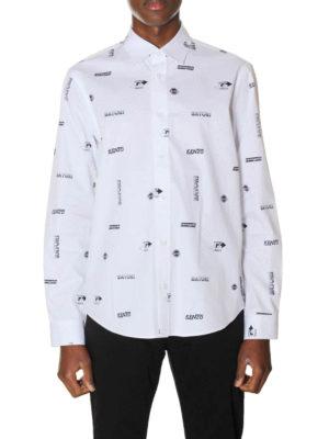 Kenzo: t-shirts online - Logo print cotton shirt