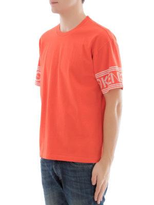 Kenzo: t-shirts online - Logo sleeves cotton T-shirt