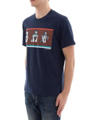 Kenzo: t-shirts online - Portraits print cotton T-shirt