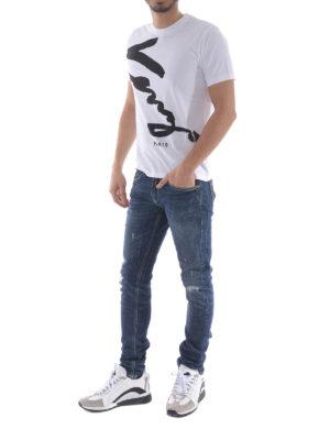 Kenzo: t-shirts online - Signature white T-shirt