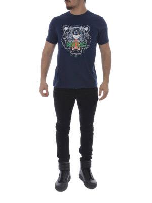 Kenzo: t-shirts online - Tiger blue T-shirt