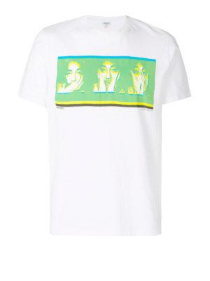 Kenzo: t-shirts - Portrait print cotton T-shirt