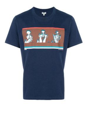Kenzo: t-shirts - Portraits print cotton T-shirt