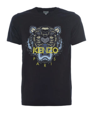 Kenzo: t-shirts - Tiger black T-shirt