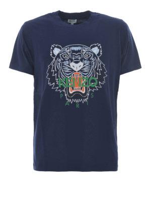 Kenzo: t-shirts - Tiger blue T-shirt