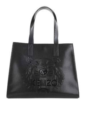 Kenzo: totes bags - Logo embossed shopping bag