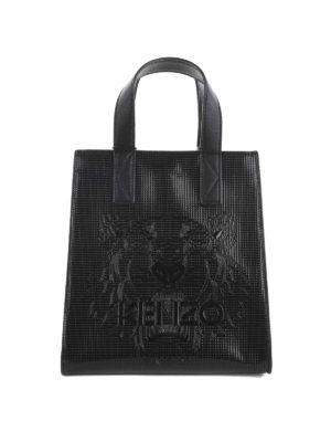 Kenzo: totes bags - Logo embossed small shopping bag