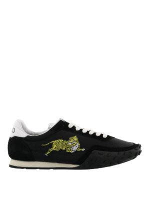 KENZO: sneakers - Sneaker Move nere in suede e nylon