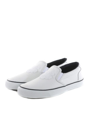 Kenzo: trainers online - Rubber Tiger patch leather slip-ons