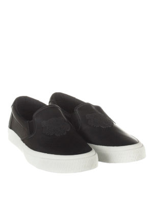 Kenzo: trainers online - Rubber Tiger patch slip-ons