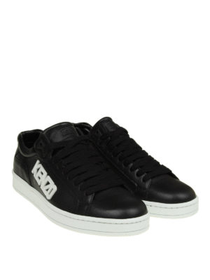 Kenzo: trainers online - Tennix black leather sneakers