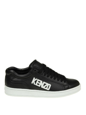 Kenzo: trainers - Tennix black leather sneakers