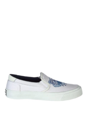 Kenzo: trainers - Tiger embroidery cotton slip-ons